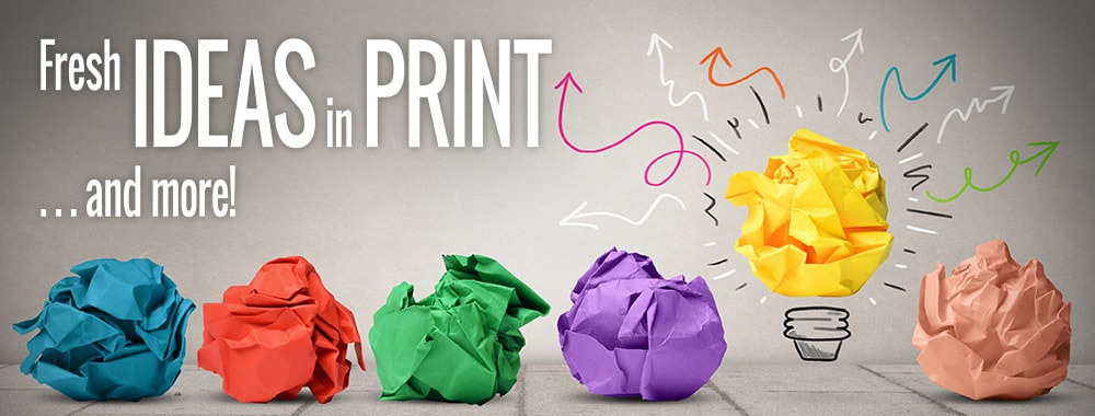 Marketing Material Ideas - Print Marketing - Colored Paper Lightbulbs